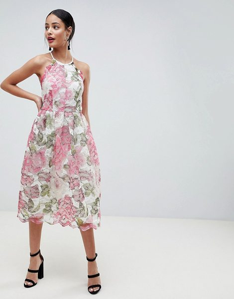 ASOS DESIGN Pinny Prom Midi Dress In Floral Lace - Midi dress by ASOS DESIGN, For that thing you RSVPd to,...