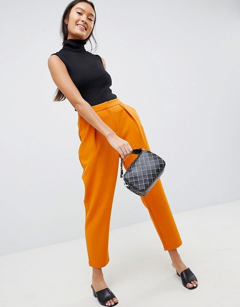 ASOS DESIGN tailored tapered peg pants in mustard - Pants by ASOS DESIGN, Tailored down to a T, High rise,...
