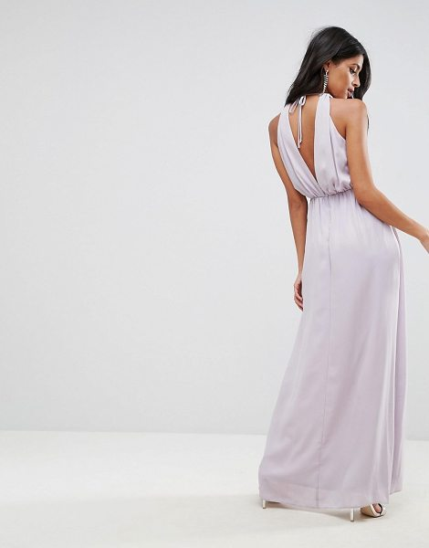 "ASOS Embellished Neck Trim Drape Back Maxi Dress - """"Maxi dress by ASOS Collection, Lightly-textured lined..."