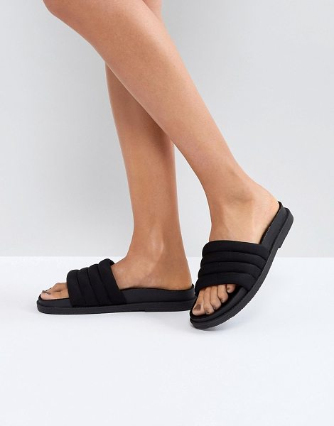 3073d9a212806a ASOS DESIGN flood sliders in black - Sandals by ASOS Collection