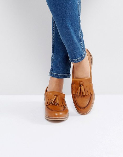 ASOS MAXWELL Leather Loafers - Flat shoes by ASOS Collection, Leather upper, Slip-on...