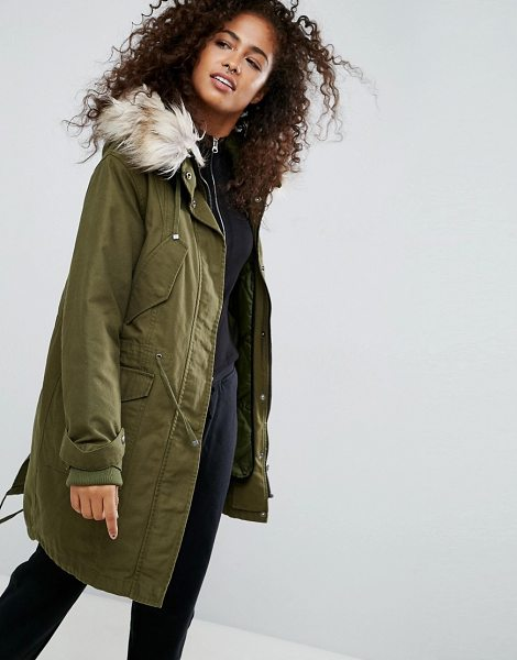 c0f6791d4dfad ASOS DESIGN asos oversized parka with padded liner in khaki - Parka by ASOS  DESIGN