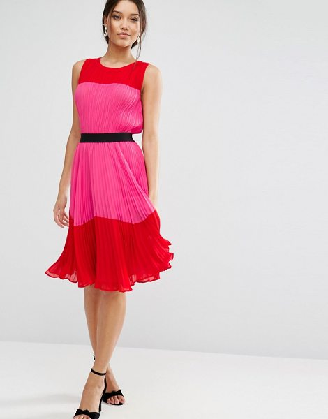 Asos Pleated Color Block Dress Shopstasy