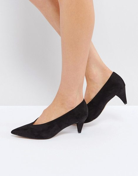 "ASOS STRIKE Mid Heels - """"Heels by ASOS Collection, Faux-suede upper, Slip-on..."