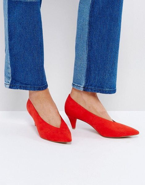 "ASOS STRIKE Mid Heels - """"Heels by ASOS Collection, Textile upper, Slip-on style,..."
