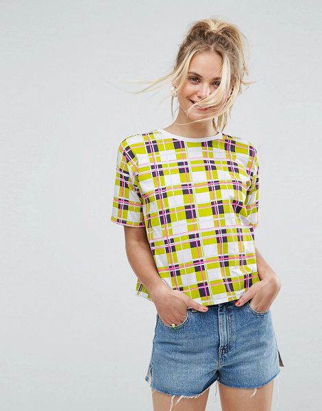 "ASOS T-Shirt In Bright Check in multi - """"T-shirt by ASOS Collection, We partner with the Better..."