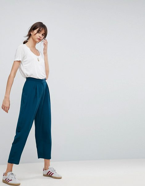 ASOS DESIGN asos tapered peg pants in teal - Pants by ASOS Collection, Some serious daytime...