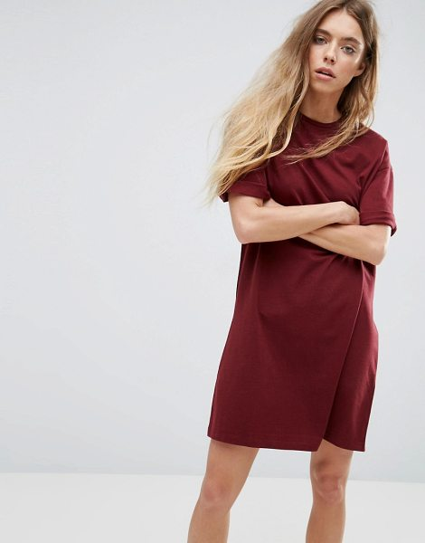 ASOS Ultimate T-Shirt Dress with Rolled Sleeves - Dress by ASOS Collection, Soft-touch jersey, Crew neck,...