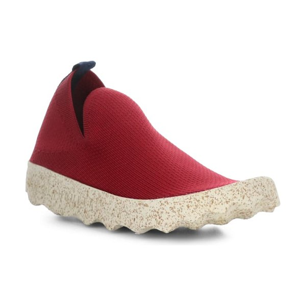 ASPORTUGUESAS BY FLY LONDON care sneaker in red/ white cafe