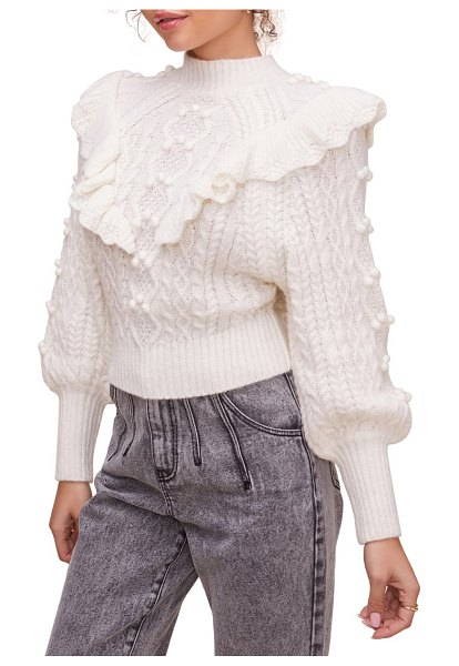 ASTR the Label judy stitch mix sweater in ivory