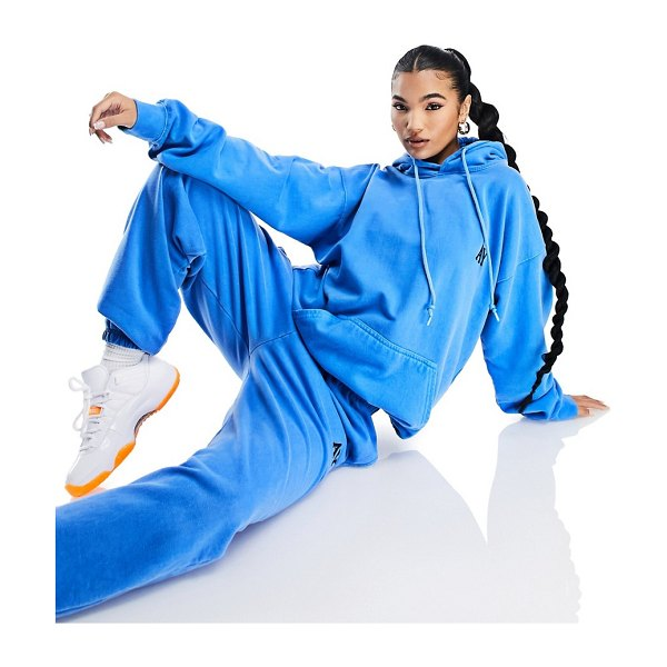 AsYou branded set hoodie in blue-blues in blues