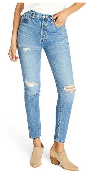 aTICA etica alex ripped high waist ankle slim fit jeans in fleetwood