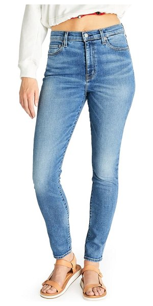 aTICA etica giselle high waist ankle skinny jeans in emerald pools