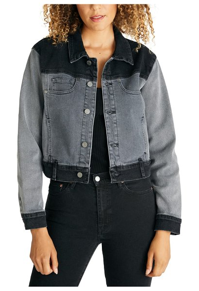 aTICA etica jett colorblock denim jacket in renegade