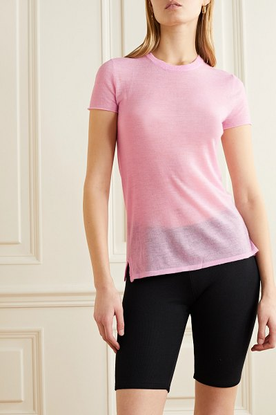 ATM Anthony Thomas Melillo cashmere t-shirt in pink