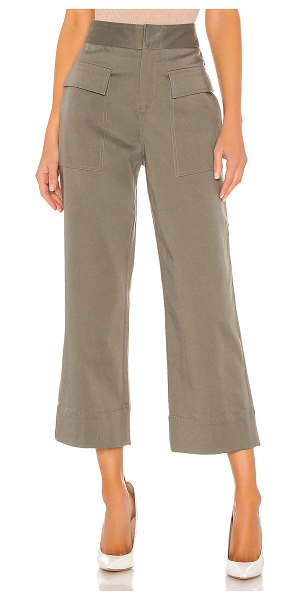 ATM Anthony Thomas Melillo cotton satin pants in olive drab