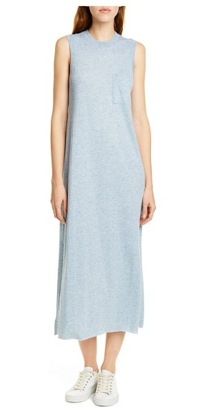 ATM Anthony Thomas Melillo donegal pocket midi dress in blue donegal - The classic muscle tee is lengthened into this...