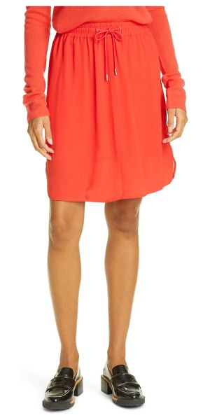 ATM Anthony Thomas Melillo drawstring crepe georgette skirt in flame