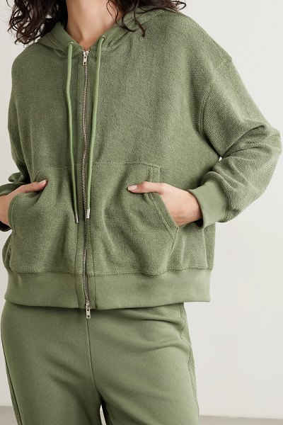 ATM Anthony Thomas Melillo french cotton-terry hoodie in green