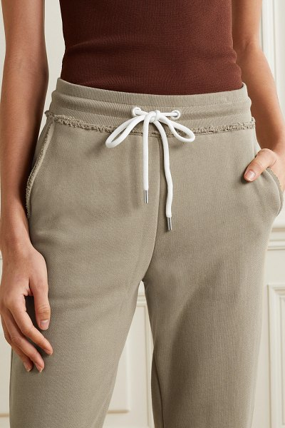 ATM Anthony Thomas Melillo french cotton-terry track pants in sand