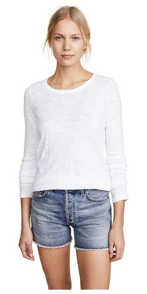 ATM Anthony Thomas Melillo long sleeve destroyed tee in white