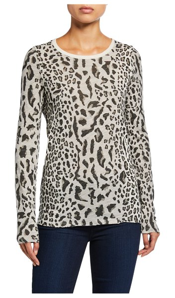ATM Anthony Thomas Melillo Mixed Leopard-Print Long-Sleeve Shirt in multi pattern