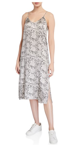 ATM Anthony Thomas Melillo Silk Snake-Print Slip Dress in multi pattern