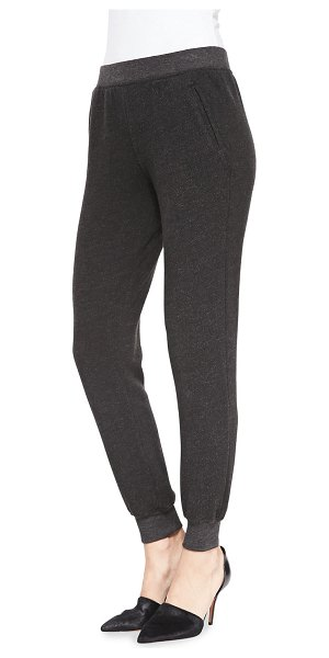 ATM Anthony Thomas Melillo Slim Cuffed Pull-On Sweatpants in charcoal heather