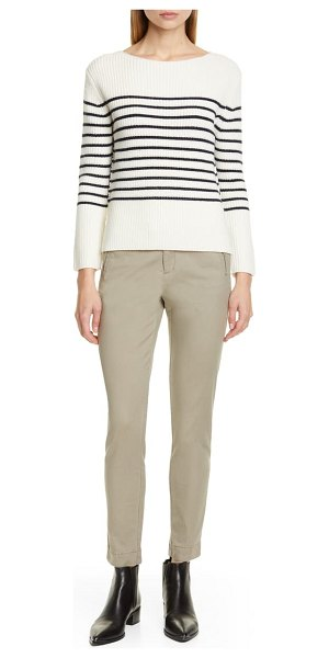 ATM Anthony Thomas Melillo stripe wool blend sweater in cream/ midnight