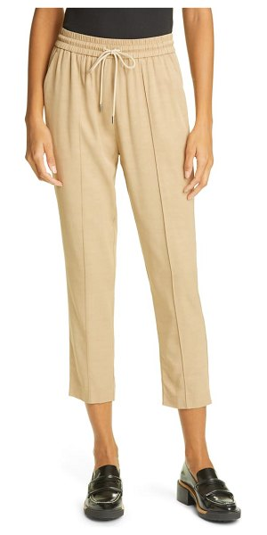 ATM Anthony Thomas Melillo twill drawstring crop pants in dune