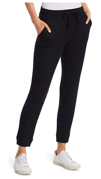 ATM Anthony Thomas Melillo Waffle Knit Cropped Jogging Pants in black