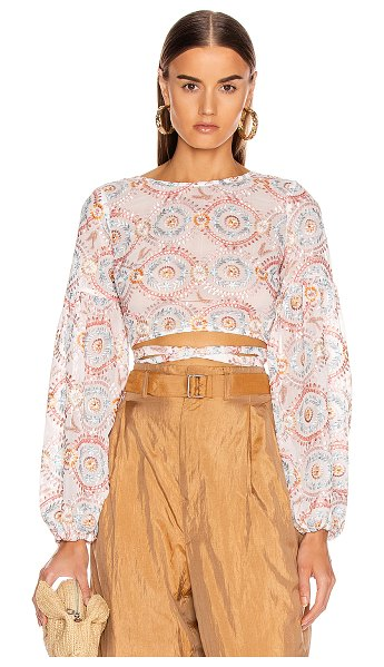Atoir love sick crop top in sunset embroidery