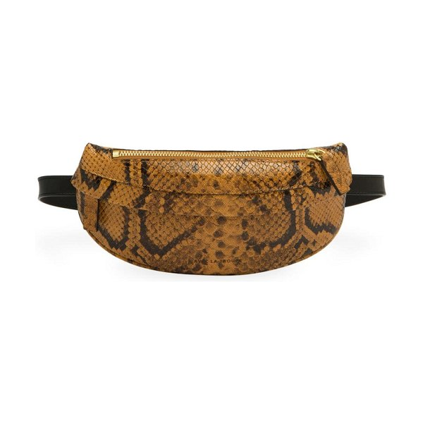 Avec La Troupe python embossed belt bag in neutral - Add texture and glamorous to your look with this...