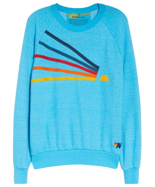 Aviator Nation daydream sweatshirt in neon blue