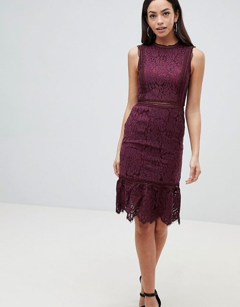 AX Paris lace midi dress in plum - Evening dress by AX Paris, For that thing you have to go...