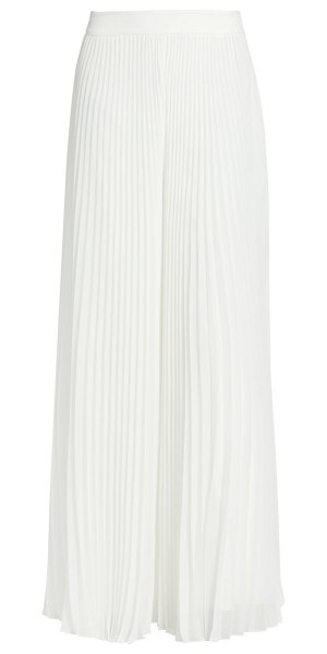 Badgley Mischka accordion pleat dramatic leg pants in white