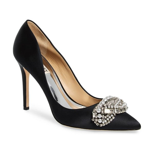Badgley Mischka Collection badgley mischka olga pump in black satin