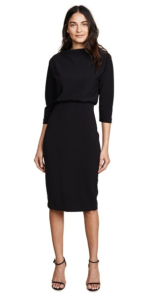 Badgley Mischka Collection long sleeve dress in black