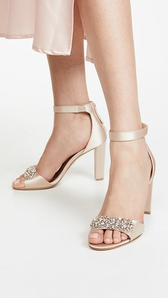 Badgley Mischka edaline block heel sandals in nude