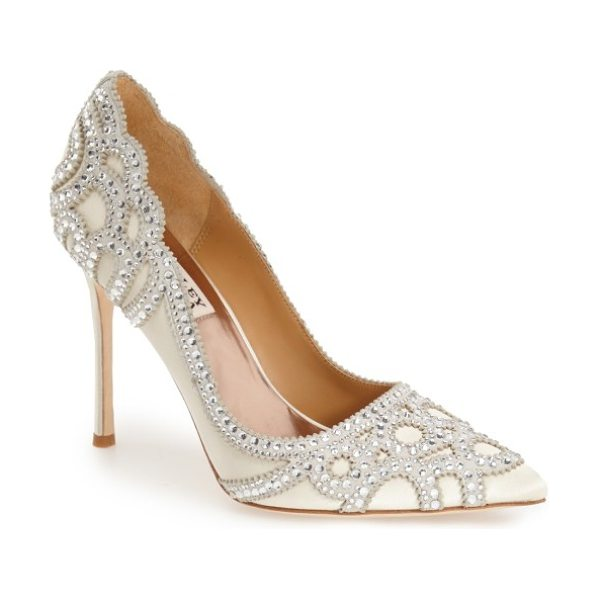 Badgley Mischka Collection rouge pointed toe pump in ivory