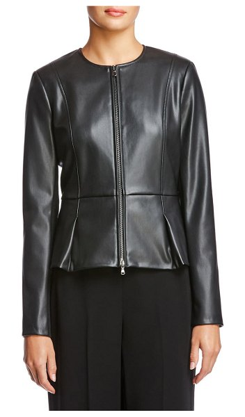 Bailey 44 avery faux leather jacket in black