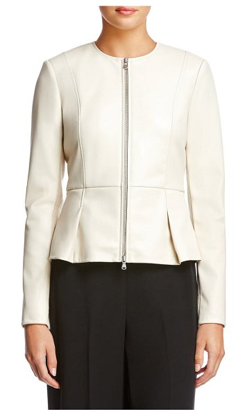 Bailey 44 avery faux leather jacket in pebble