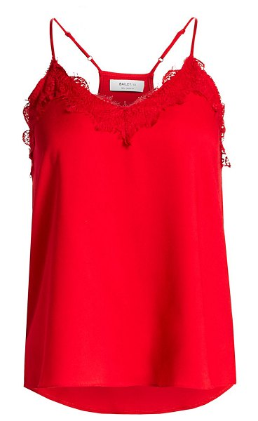 Bailey 44 camille lace-trim camisole in cardinal