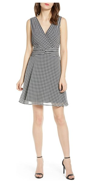 Bailey 44 danish gingham minidress in black/ chalk - Gingham checks evoke fun in the sun while a twisted and...