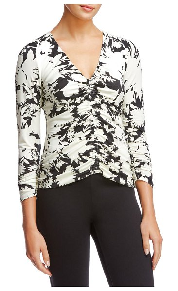 Bailey 44 fiona ruched top in crme fraiche multi
