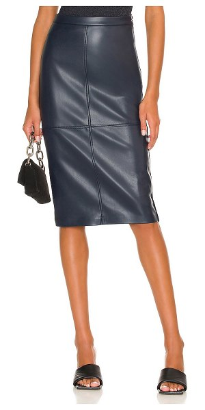 Bailey 44 pollina faux leather skirt in navy