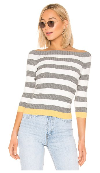 Bailey 44 Salty Dog Sweater in gray - Cotton blend. Hand wash, dry flat. Mock neckline. Ribbed...