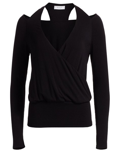 Bailey 44 stahl cutout sweater in black