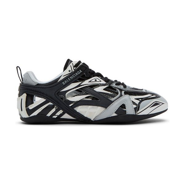 Balenciaga black and white drive sneakers in 1019 gr,blk