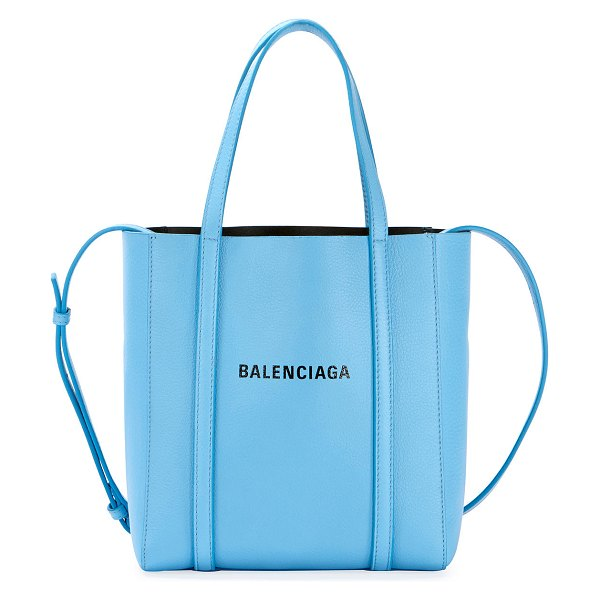 Balenciaga Every Day XXS AJ Leather Tote Bag in light blue